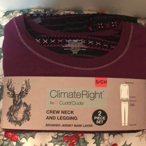 Cuddl Duds Climate Right 2 Piece Set NWT